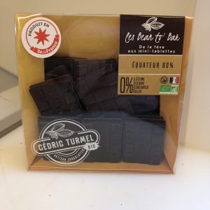 Mini tablette Equateur 80% chocolat noir